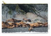 Sea Lions On The Sea Shore Carry-all Pouch