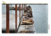 Sea Lions Sleeping Carry-all Pouch by Robert Bales