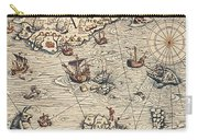 Sea Map By Olaus Magnus Carry-all Pouch