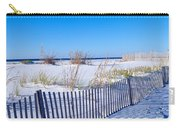 Sea Oats And Fence Along White Sand Carry-all Pouch