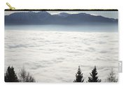 Sea Of Fog And Alps Carry-all Pouch