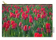 Sea Of Red Tulips Carry-all Pouch by Inge Johnsson