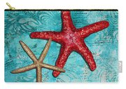 Sea Shore Original Coastal Painting Colorful Starfish Art By Megan Duncanson Carry-all Pouch