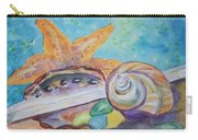 Sea Star-abalone-snail Shell Carry-all Pouch