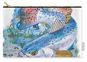 Sea Trout Wreck Carry-all Pouch by Carey Chen