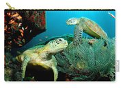 Sea Turtle Oil On Canvas Carry-all Pouch