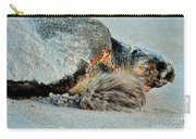 Sea Turtle Heading Back To Sea  Carry-all Pouch