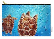 Sea Turtles Swimming Towards The Light Together Carry-all Pouch