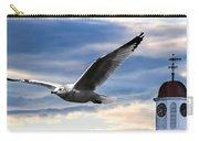 Seagull And Clock Tower Carry-all Pouch by Bob Orsillo