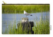 Seagull At Weeks Landing Carry-all Pouch by Bill Cannon