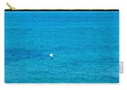 Seagull Cruising Over Azure Blue Sea Carry-all Pouch