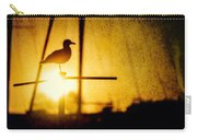 Seagull In Harbor Sunset Carry-all Pouch