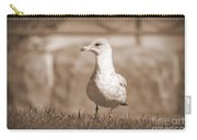 Seagull In Sephia Carry-all Pouch