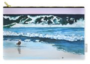 Seagull In The Sand Carry-all Pouch