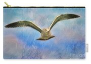 Seagull In The Storm Carry-all Pouch