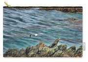 Seagull Over Rocks Carry-all Pouch