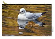 Seagull Resting Among Fall Leaves Carry-all Pouch