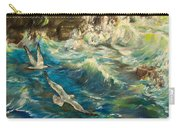 Seagulls Over The Rough Sea Carry-all Pouch