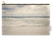 Seagulls Take Flight Over The Sea Carry-all Pouch