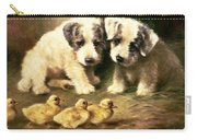 Sealyham Puppies And Ducklings Carry-all Pouch by Lilian Cheviot