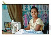 Seamstress At Her Sewing Machine In Tachilek-burma Carry-all Pouch