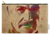 Sean Connery Actor Watercolor Portrait On Worn Distressed Canvas Carry-all Pouch