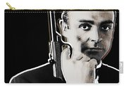 Sean Connery James Bond Square Carry-all Pouch by Tony Rubino