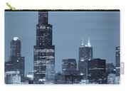 Sears Tower In Blue Carry-all Pouch by Sebastian Musial