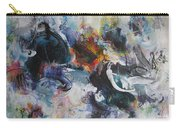 Seascape Abstract Painting Blue Purple Orange Acrylic Painting Carry-all Pouch