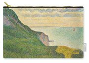 Seascape At Port En Bessin Normandy Carry-all Pouch by Georges Seurat