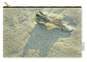 Seashell And Shadow On Sand Carry-all Pouch