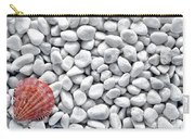 Seashell On White Pebbles Carry-all Pouch