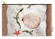 Seashell With Pearls Sea Star And Seaweed  Carry-all Pouch