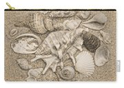Seashells Collection Drawing Carry-all Pouch