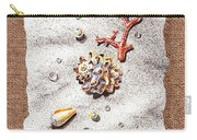 Seashells Coral Pearls And Water  Drops Carry-all Pouch