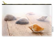 Seashells On Wood Dock Carry-all Pouch