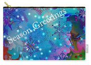 Season Greetings - Snowflakes Carry-all Pouch