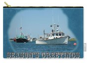Season's Greetings Holiday Card - Boats In Peaceful Harbor Carry-all Pouch