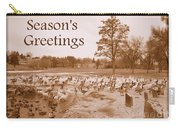 Season's Greetings - Winter Pond Carry-all Pouch