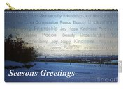 Seasons Greetings Wishes Carry-all Pouch