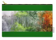 Seasons Of The Aspen Carry-all Pouch by Carol Cavalaris