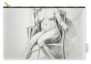 Seated Nude Model Study Carry-all Pouch