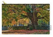 Seated Under The Fall Colors Carry-all Pouch