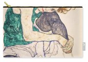 Seated Woman With Legs Drawn Up. Adele Herms Carry-all Pouch
