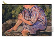 Seated Young Woman Carry-all Pouch by Marie Clementine Valadon