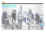Seattle City With Print Carry-all Pouch