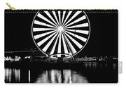 Seattle Great Wheel Black And White Carry-all Pouch