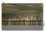Seattle Lights At Night From Alki Carry-all Pouch