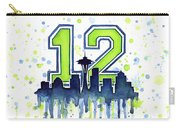 Seattle Seahawks 12th Man Art Carry-all Pouch by Olga Shvartsur