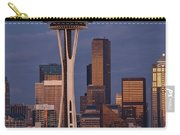 Seattle Skyline And Space Needle With City Lights Carry-all Pouch
